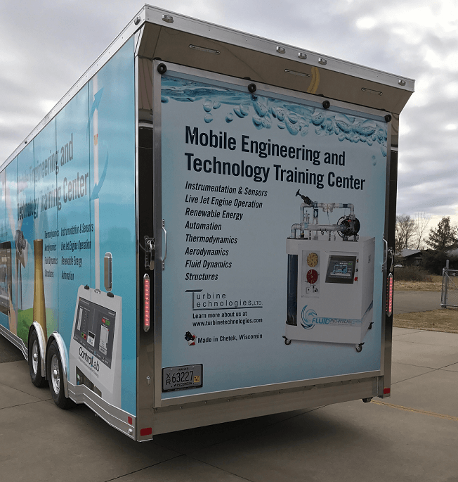 Back End View Of The Trailer Lab