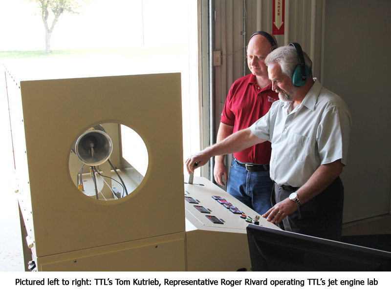 Representatives Operating TTL's Jet Engine Lab