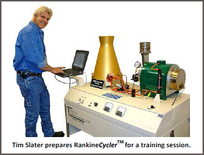 Tim Slater prepares Rankine Cycler For a Training Session
