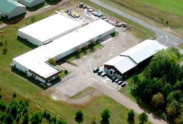 Aerial view of facility