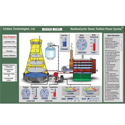 Turbine Technologies | Steam Turbine Engine Lab